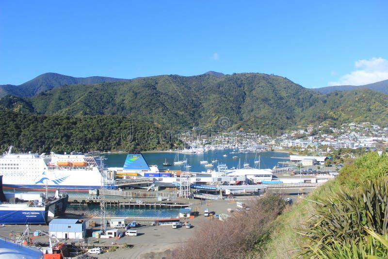 Паромный терминал Новая Зеландия Picton стоковое изображение rf