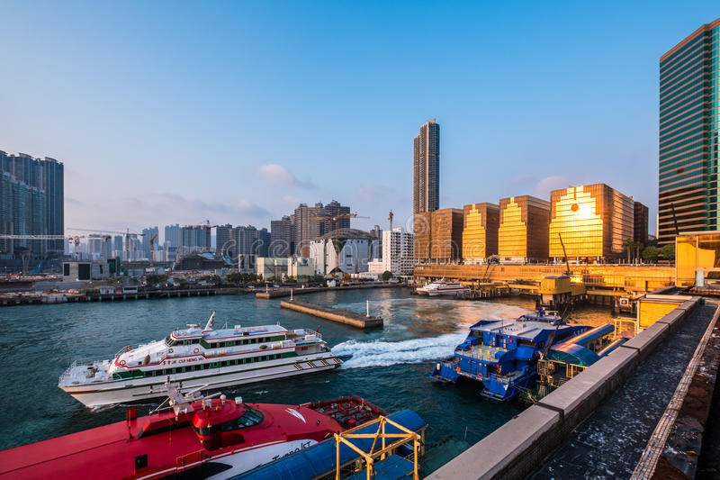 Паромный терминал Китая Гонконга стоковое фото