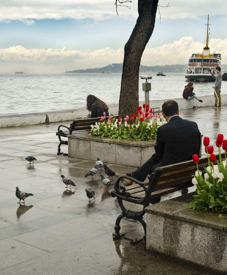 паромы istanbul Паромы регулярного пассажира пригородных поездов работали на th стоковое изображение