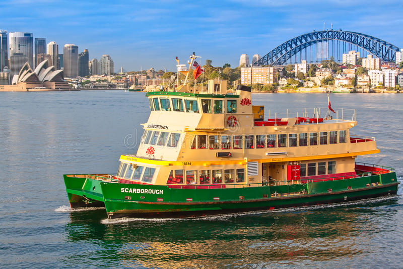 Паром гавани Сидней стоковое фото