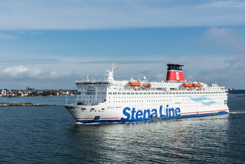 Паром духа Stena плавая с Karlskrona в Швеции стоковые фото