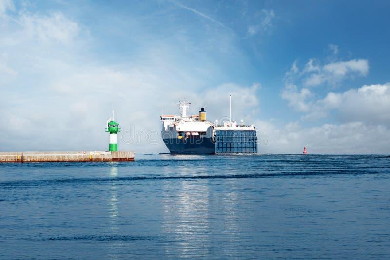 Паром на Балтийском море стоковое фото rf