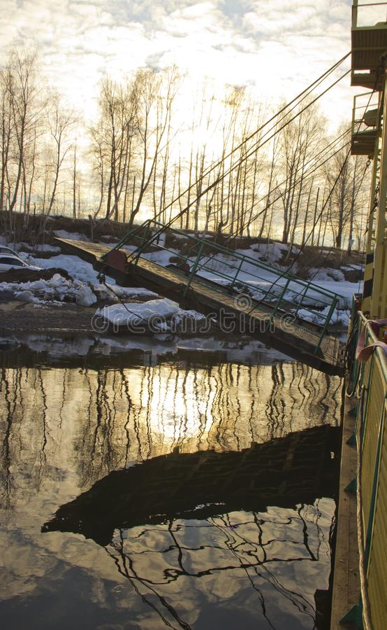 Паром реки стоковая фотография rf