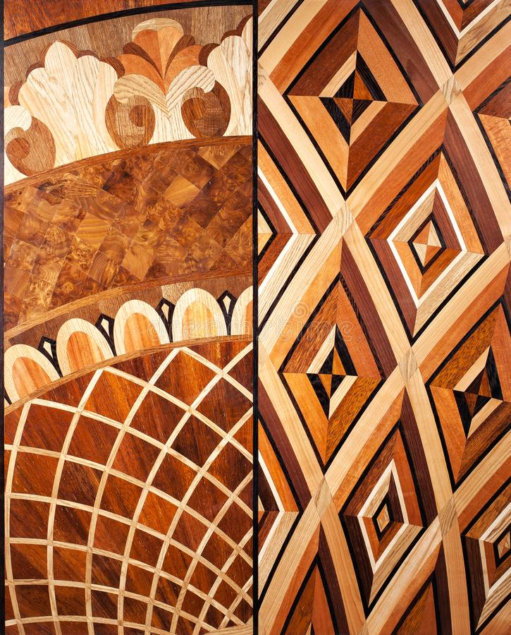 Партер элиты модульный Естественный деревянный настил с роскошными текстурой и картиной Взгляд сверху стоковая фотография