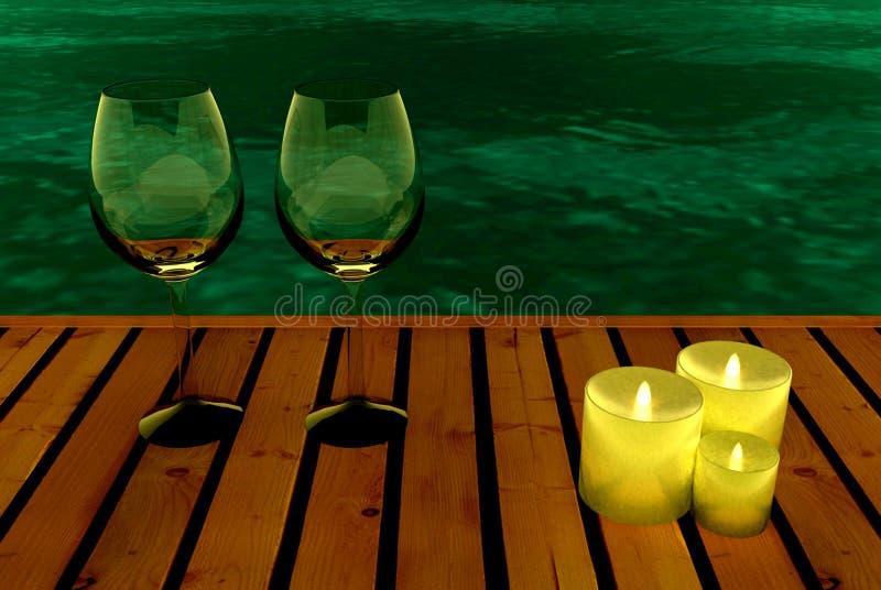 Партия вечера в бассейне стоковое изображение rf