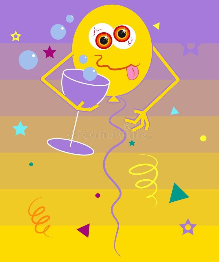 партия воздушного шара бесплатная иллюстрация