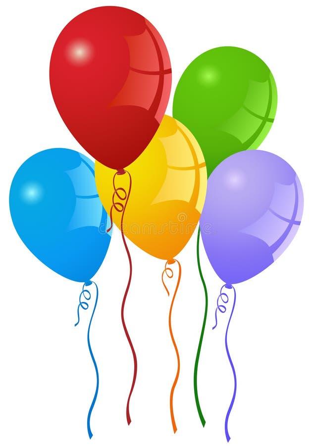 партия воздушных шаров иллюстрация вектора