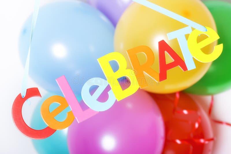 партия воздушных шаров стоковая фотография rf