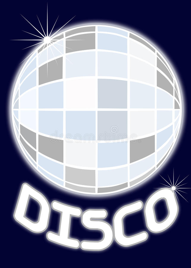 партия зеркала диско шарика иллюстрация штока