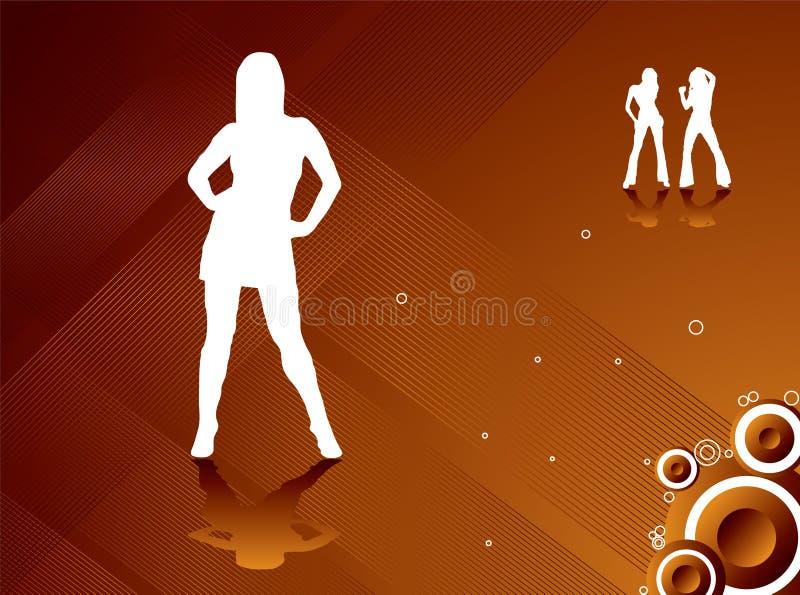 партия золота девушок подачи бесплатная иллюстрация