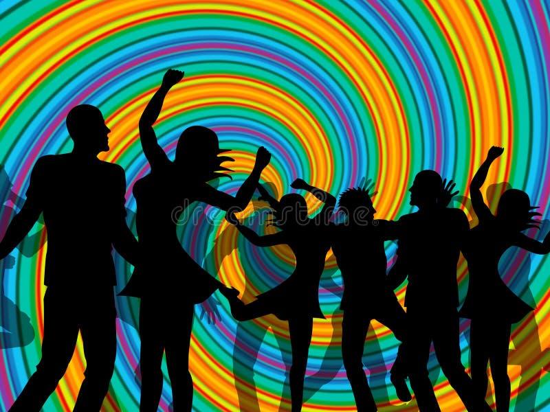 Партия диско представляет танцы и ночной клуб Discotheque иллюстрация штока