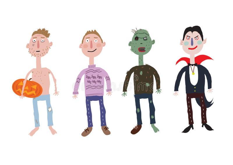 Партия костюма хеллоуина иллюстрация штока