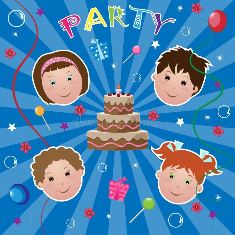 партия малышей иллюстрация вектора