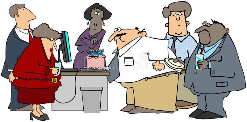 партия офиса дня рождения иллюстрация вектора