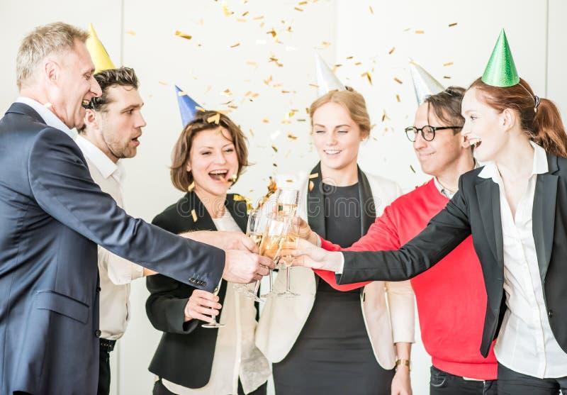 Партия офиса Нового Года стоковое фото