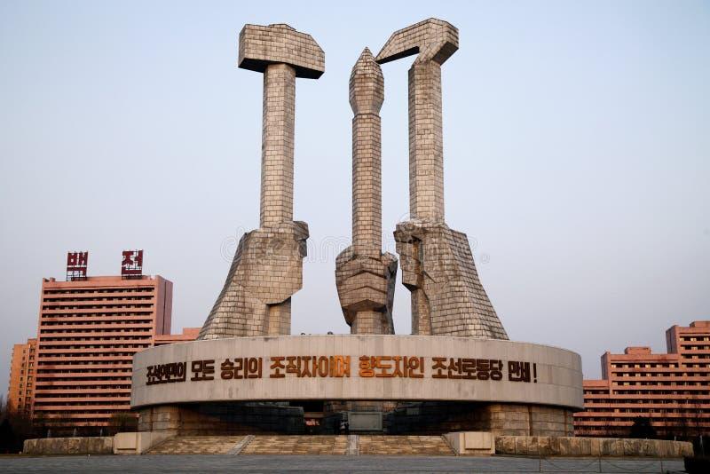 партия памятника dprk стоковое изображение rf