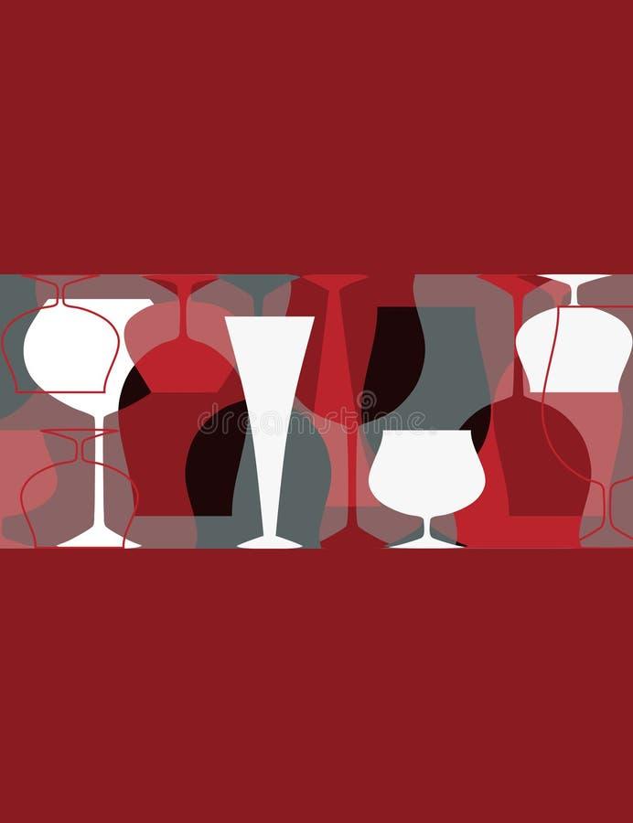 партия приглашения коктеила бесплатная иллюстрация