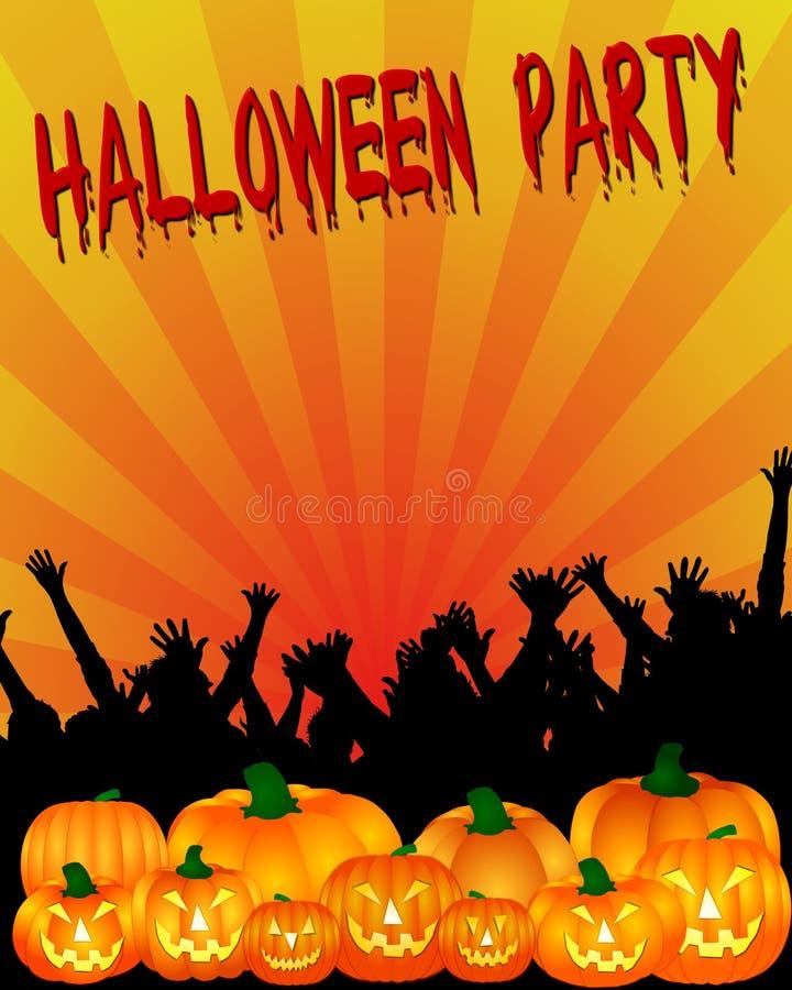 партия приглашения halloween иллюстрация штока