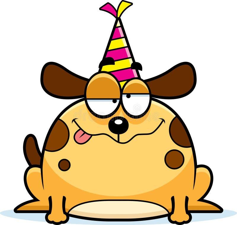 Партия собаки шаржа пьяная иллюстрация штока