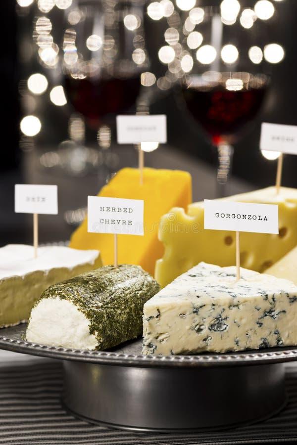 Партия сыра и дегустации вин стоковые фотографии rf