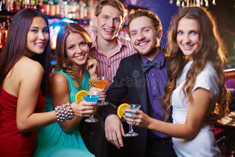 Партия с друзьями стоковое фото rf