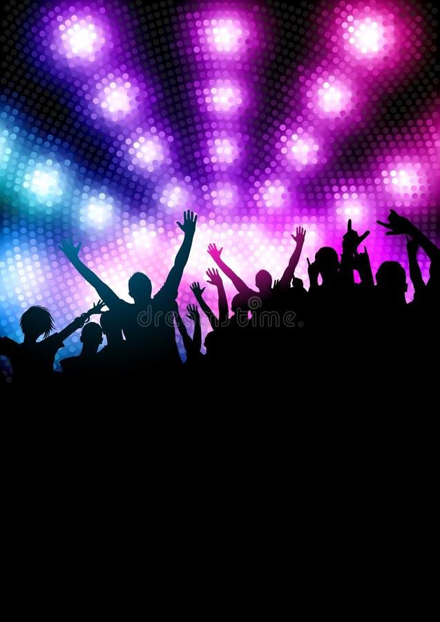 партия толпы счастливая иллюстрация вектора