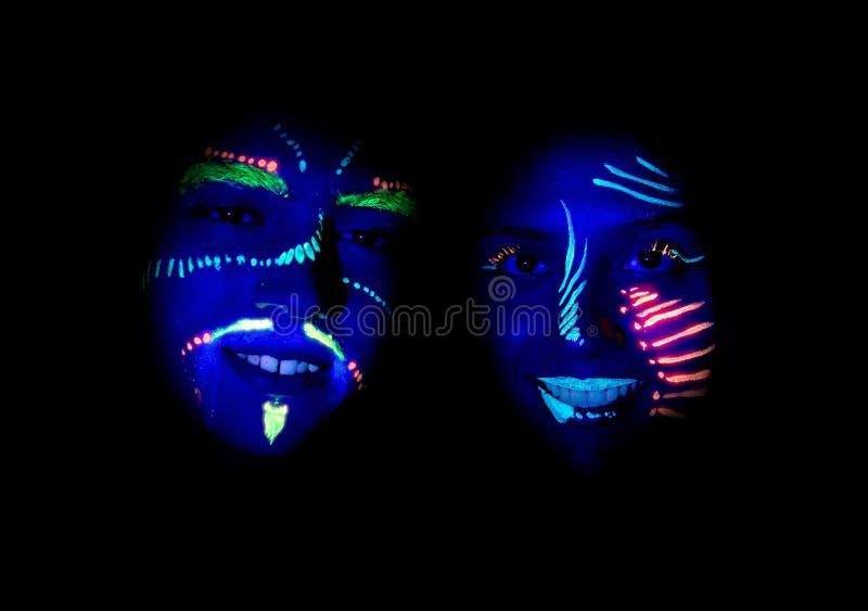 Партия ультрафиолетового света стоковые фото