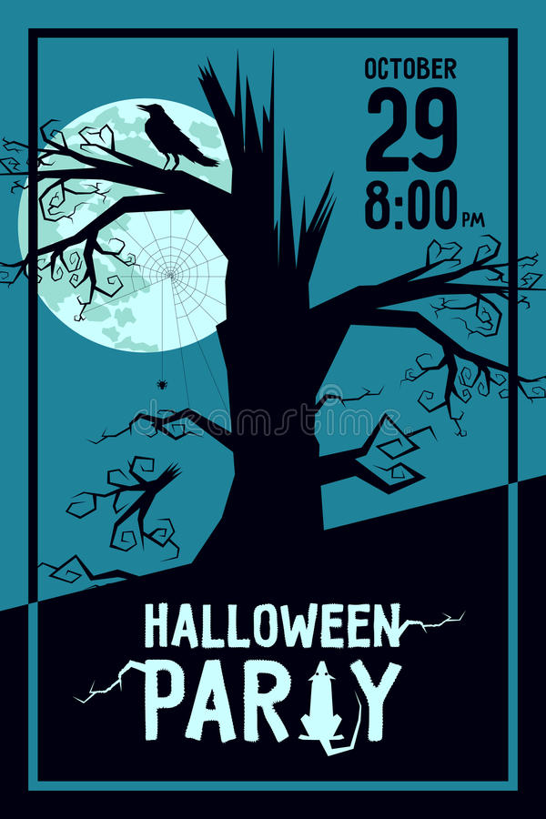Партия хеллоуина ворона иллюстрация штока