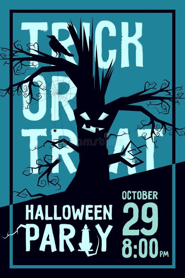 Партия хеллоуина ворона бесплатная иллюстрация