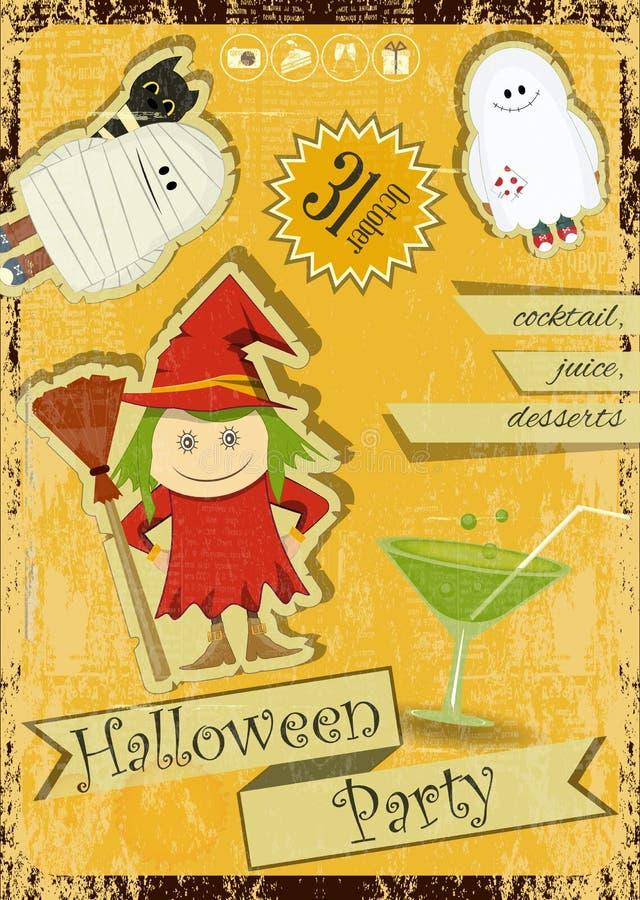 Download Партия хеллоуина иллюстрация вектора. иллюстрации насчитывающей тайна - 33727452