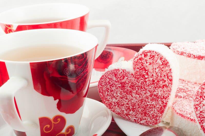 Партия чая с печеньями стоковая фотография rf