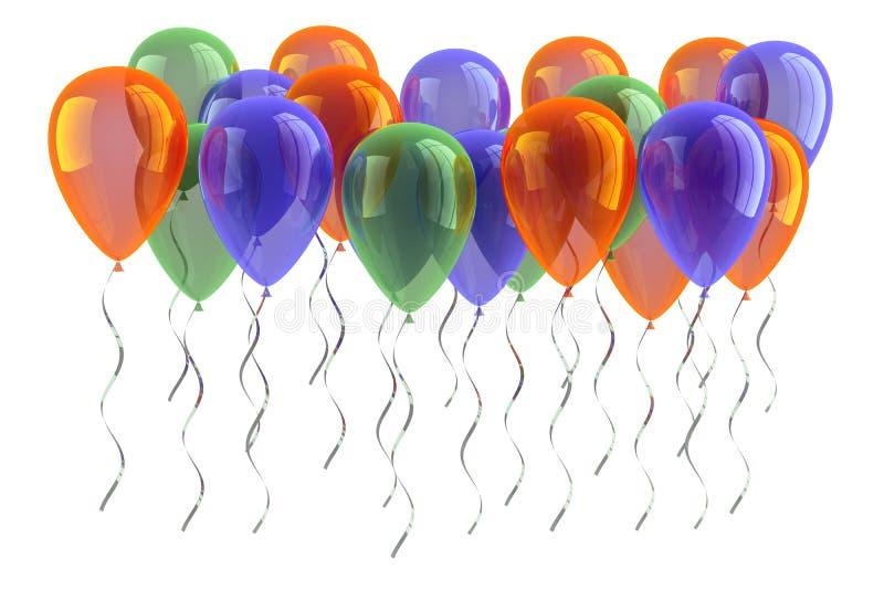партия ballons иллюстрация вектора