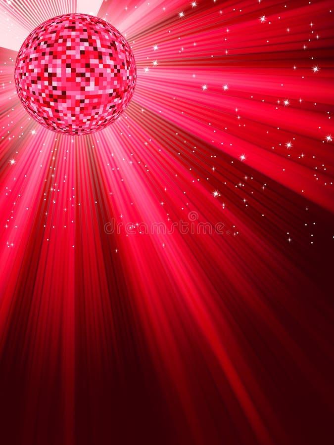 партия eps диско знамени 8 шариков иллюстрация вектора