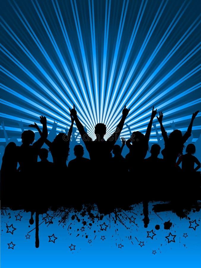 партия grunge иллюстрация вектора