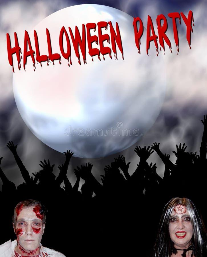 партия halloween предпосылки иллюстрация вектора