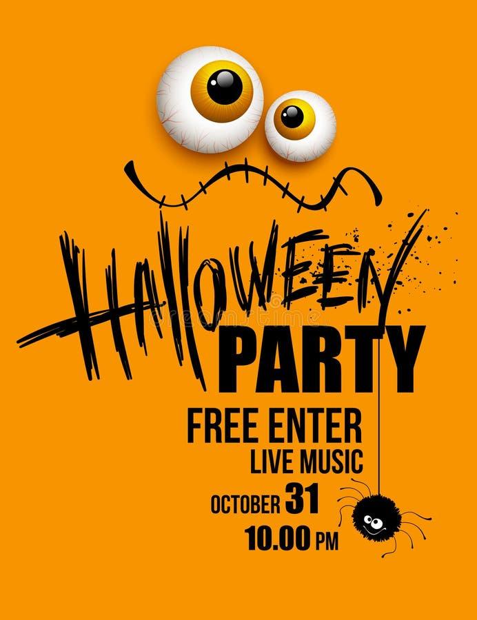 Партия Halloween счастливый праздник вектор иллюстрация штока