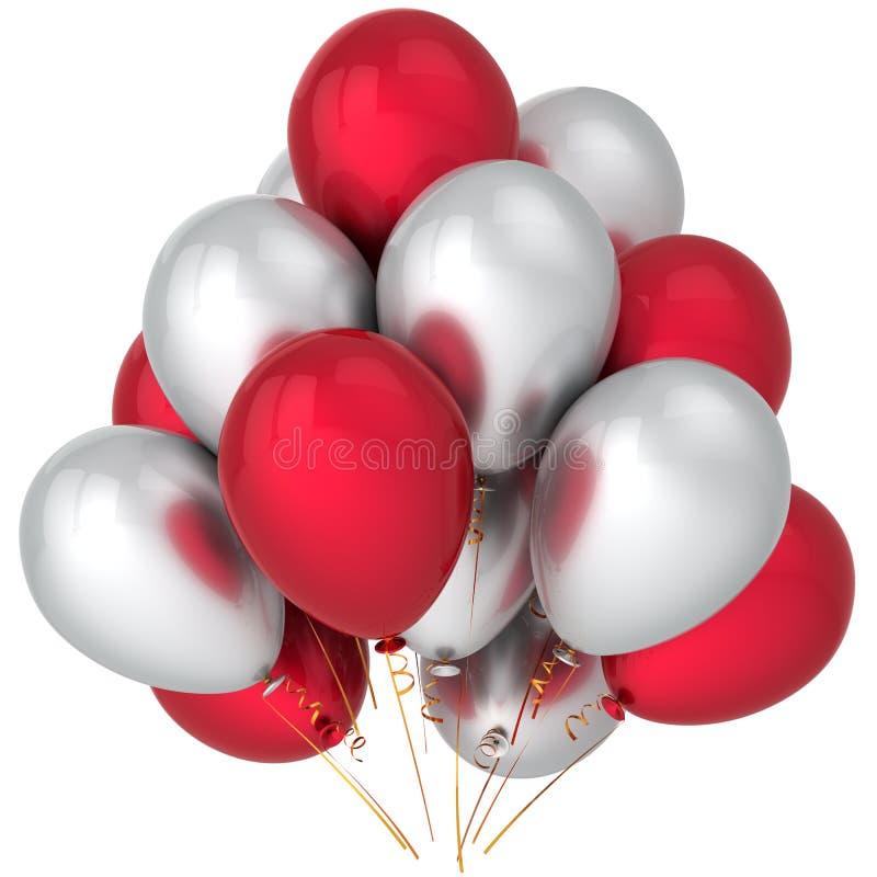 партия res воздушных шаров высокая иллюстрация вектора
