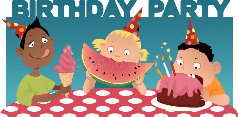 партия s малыша дня рождения иллюстрация вектора