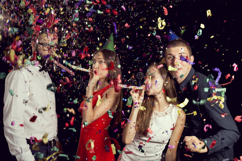 Партия ` s Eve Нового Года стоковые фото