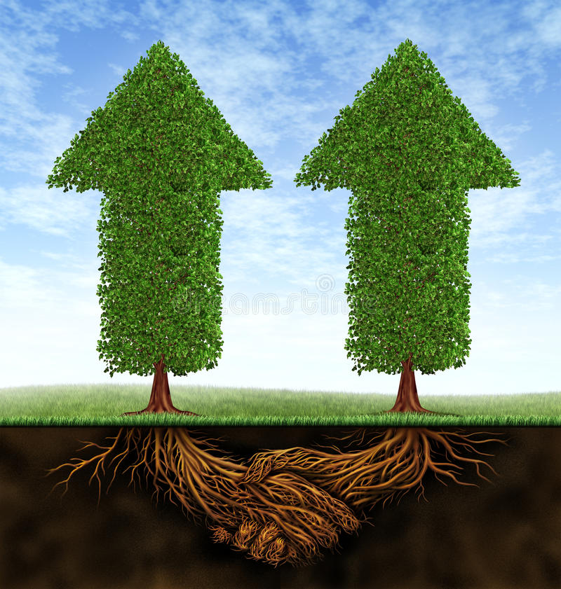 партнерство роста дела бесплатная иллюстрация