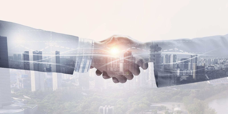 Download Партнеры тряся руки Мультимедиа Стоковое Фото - изображение насчитывающей город, корпоративно: 81808898