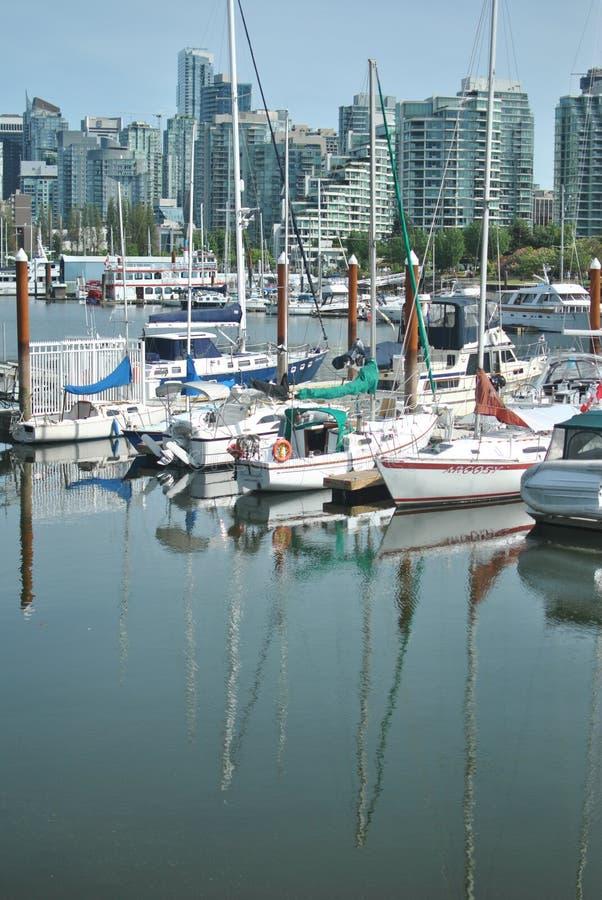 Парусники, гавань угля, Ванкувер стоковое изображение rf