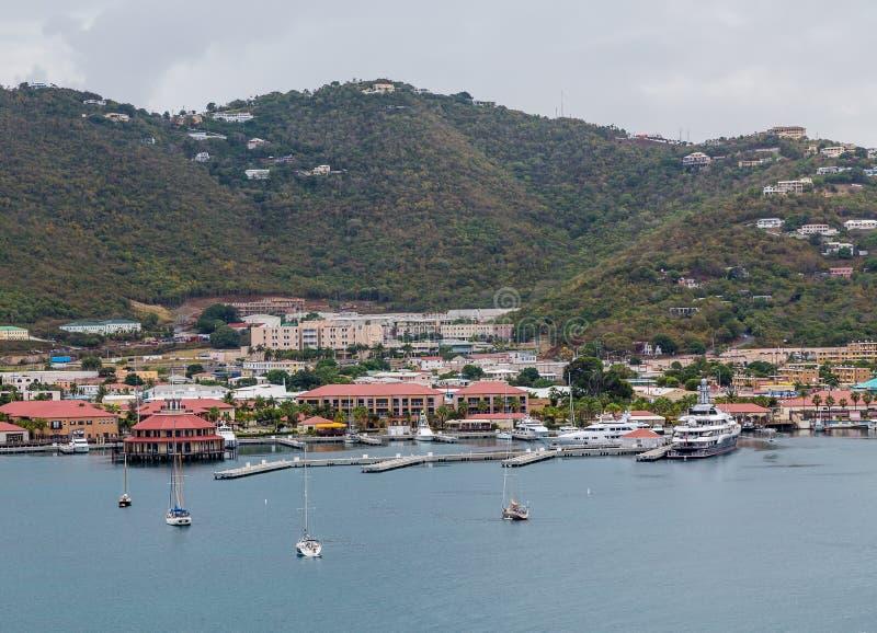Парусники и яхты на St. Thomas стоковая фотография
