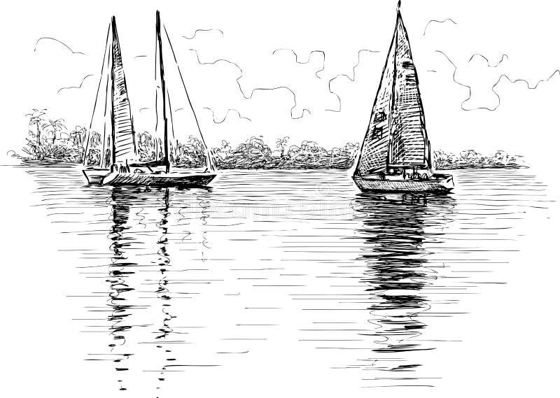 Парусники бесплатная иллюстрация