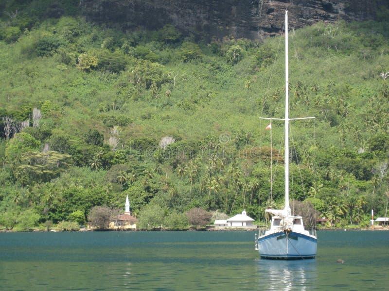 Парусник в Таити стоковое изображение