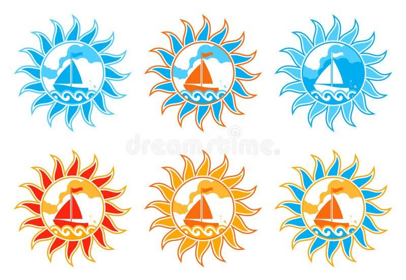 Download парусник 6 греет на солнце версии Иллюстрация вектора - иллюстрации насчитывающей море, кругло: 18380223