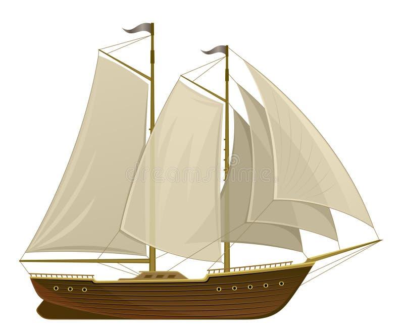Парусное судно иллюстрация штока
