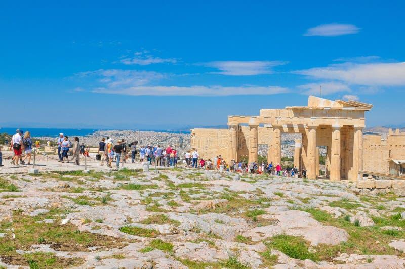 Парфенон в Афинах, Греции стоковые фотографии rf