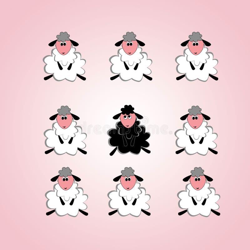 Паршивые овцы в семье иллюстрация вектора