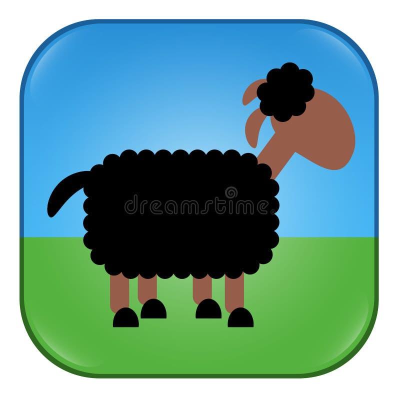 Паршивые овцы застегивают приложение символа значка бесплатная иллюстрация